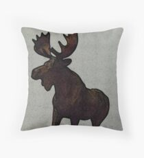 Moose Stance by Leslie Harlow Throw Pillow