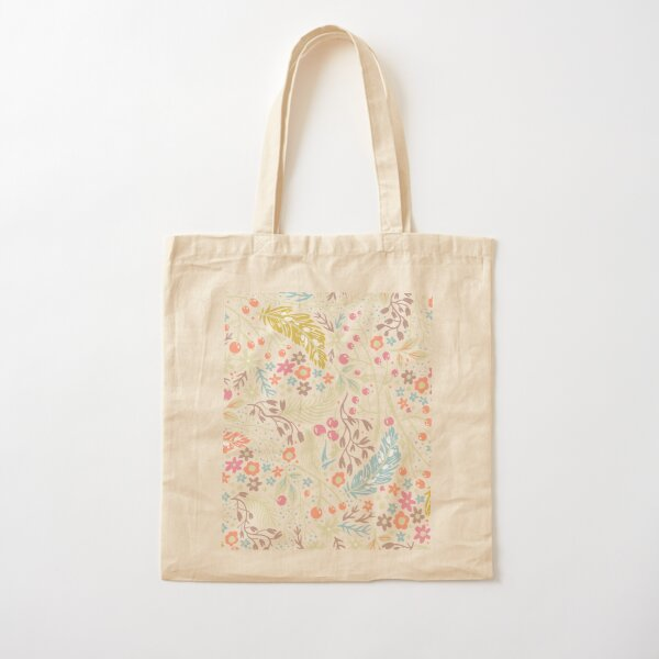 Abstract Cherry Flower's Cotton Tote Bag