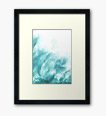 Beneath the Lake - Abstract Print  Framed Print