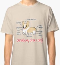 Anatomy of a Corgi Classic T-Shirt