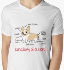 Anatomy of a Corgi Men's V-Neck T-Shirt