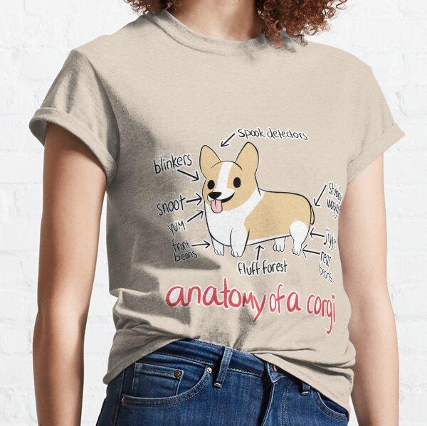 Anatomie d'un corgi T-shirt classique