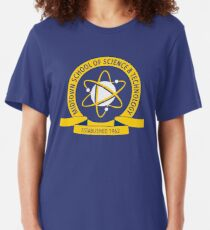 Midtown School of Science and Technology Logo Slim Fit T-Shirt