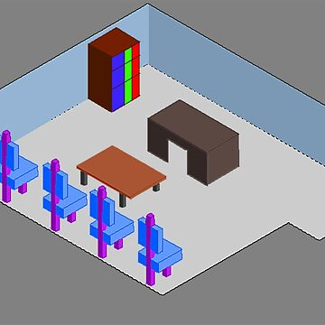Isometric Classroom fun by AdilTheDestroye
