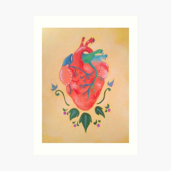 Corazón de melón Lámina artística