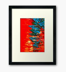 Sound Waves - Abstract Print Framed Print
