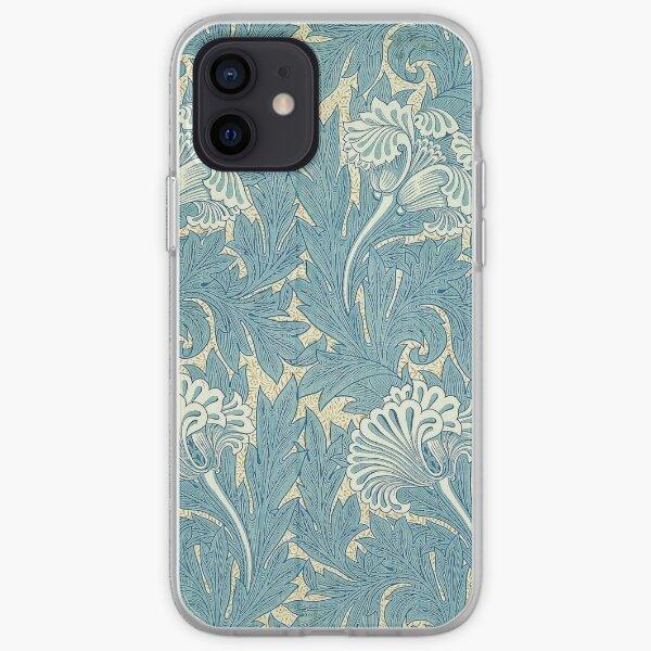 William Morris Tulip furnishing fabric in Blue iPhone Soft Case