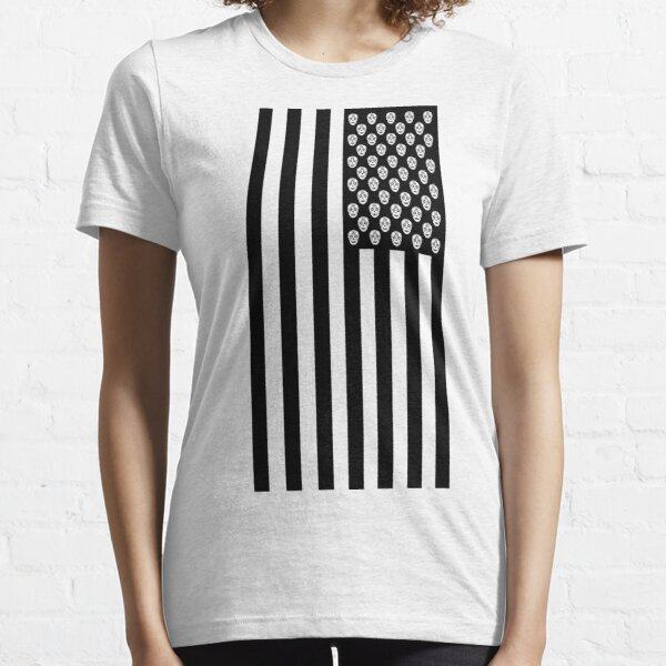 Day of the Dead American Flag Essential T-Shirt