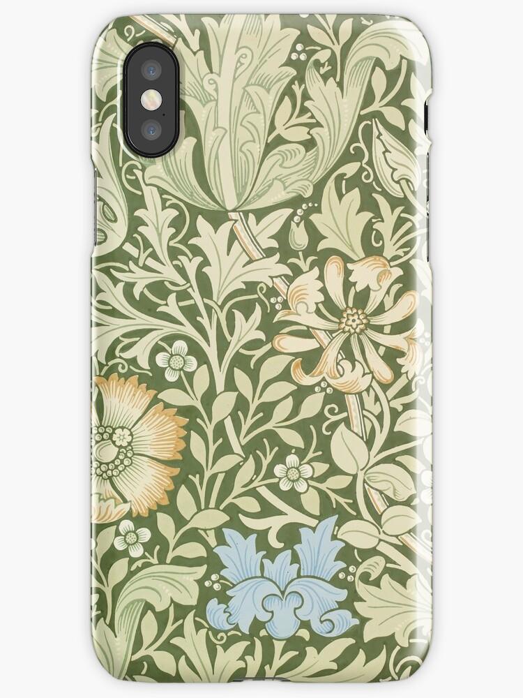 William Morris Floral Pattern - Compton wallpaper by cinn