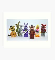 Lego FNAF Animatronics Art Print