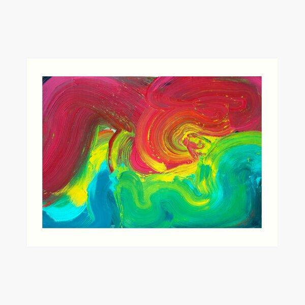 rainbow getting crazy Art Print