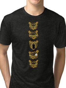 Tiger Buttons Tri-blend T-Shirt