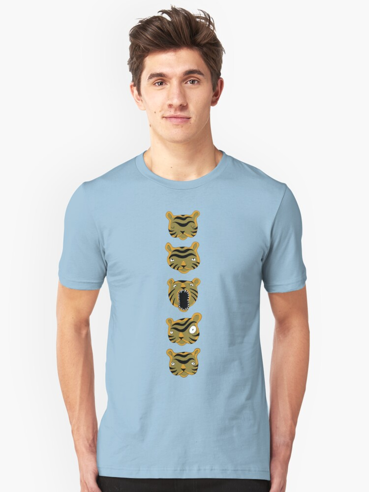 Tiger Buttons Unisex T-Shirt Front