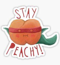 stay peachy  Sticker