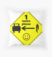 Safety First for Cyclists (Europe) Throw Pillow