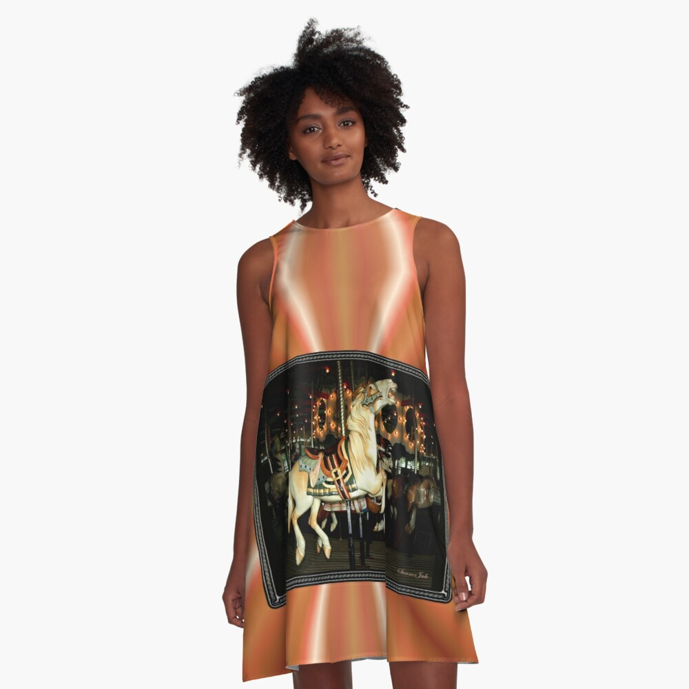 Beautiful Horse on the Carousel A-Line Dress