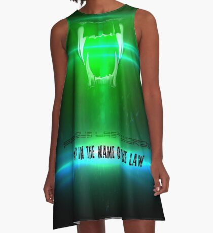 STOP in the name of the law - famous last words A-Line Dress
