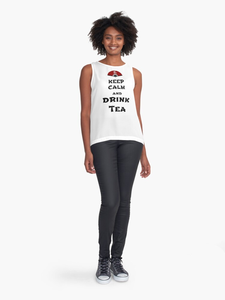 Alternate view of keep calm and drink tea Sleeveless Top