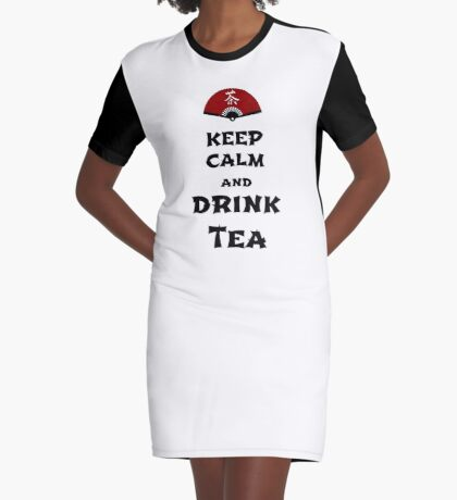 keep calm and drink tea T-Shirt Kleid