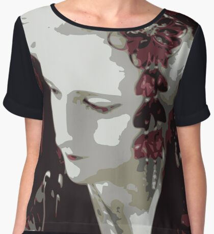 submissive Geisha Women's Chiffon Top