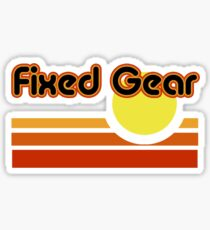 Fixed Gear Sunset Sticker