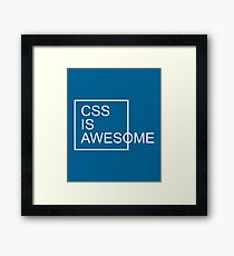 CSS Is Awesome Funny Quote Framed Print