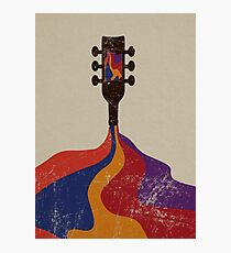 Guitar Half Full of Wine Photographic Print