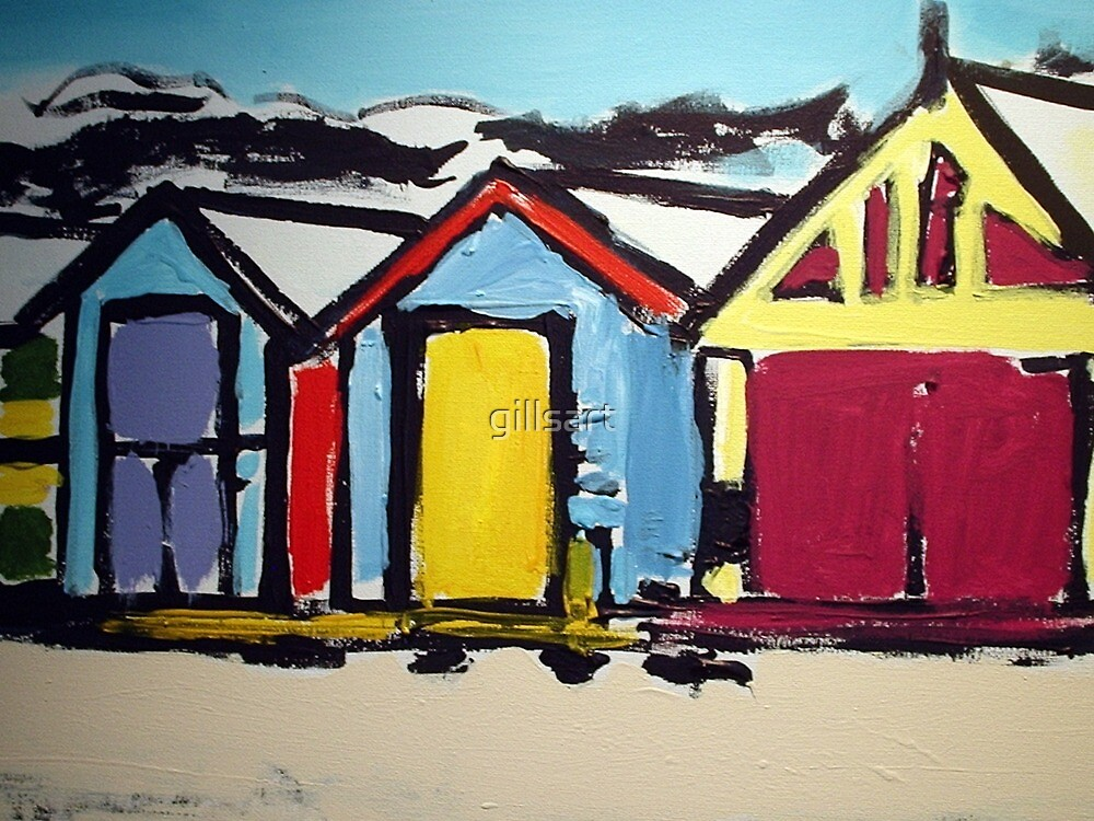 Dendy St .Victoria .Australia .Brighton Bathing Boxes by gillsart
