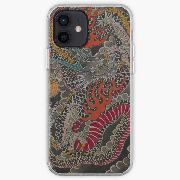 Japanese Irezumi Tattoo Inspired Dragon. iPhone Soft Case