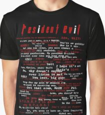 Resident Evil Quotes Graphic T-Shirt