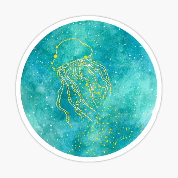 Jellyfish constellation Sticker