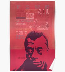 James Baldwin Quote Poster Poster