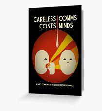 Ingress : Careless Comms Greeting Card