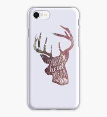 drop a heart, break a name iPhone Case/Skin
