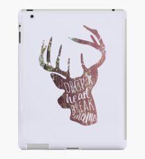 drop a heart, break a name iPad Case/Skin