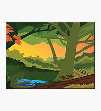 Illustrated Landscape Photographic Print