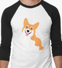 Corgi Smile Men's Baseball ¾ T-Shirt