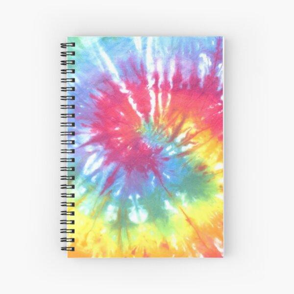 Shibori tie dye colourful  rainbow pattern Spiral Notebook