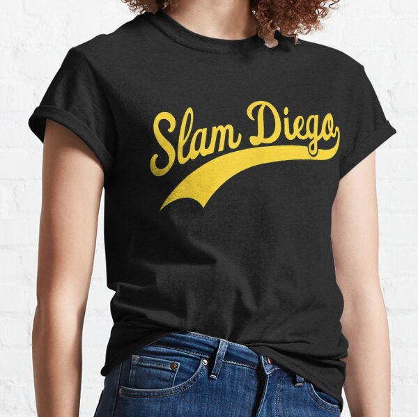 San Diego SD Slam Diego Script Game Day Padre Classic T-Shirt