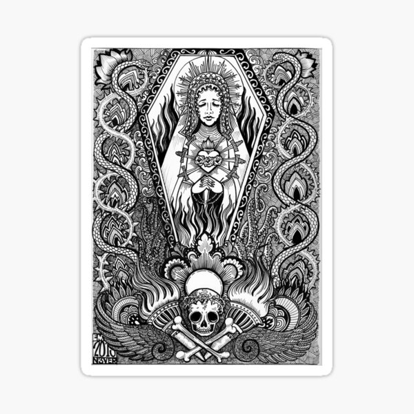 Our lady of misery  Sticker