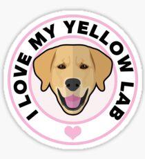 Love My Yellow Lab Sticker