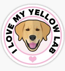 Love My Yellow Lab Sticker