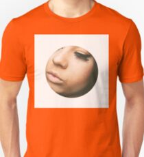 Cropped Face Pink t-shirt  T-Shirt