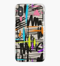 Playful scribbles iPhone Case/Skin