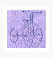 Blue Tricycle Art Print