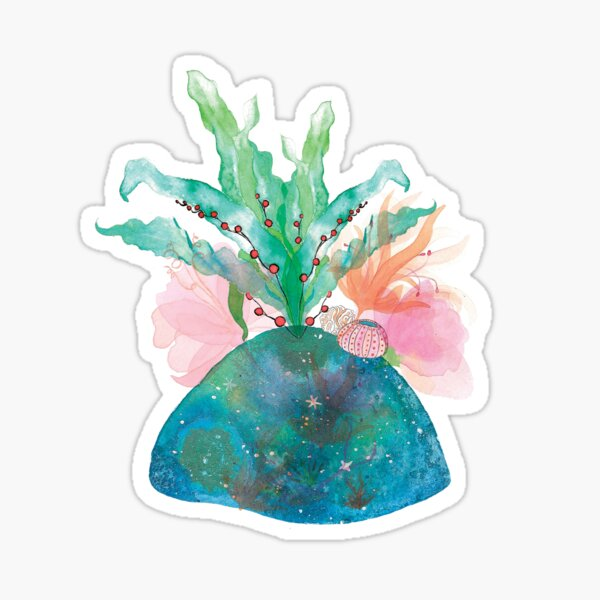 Starry coral Sticker