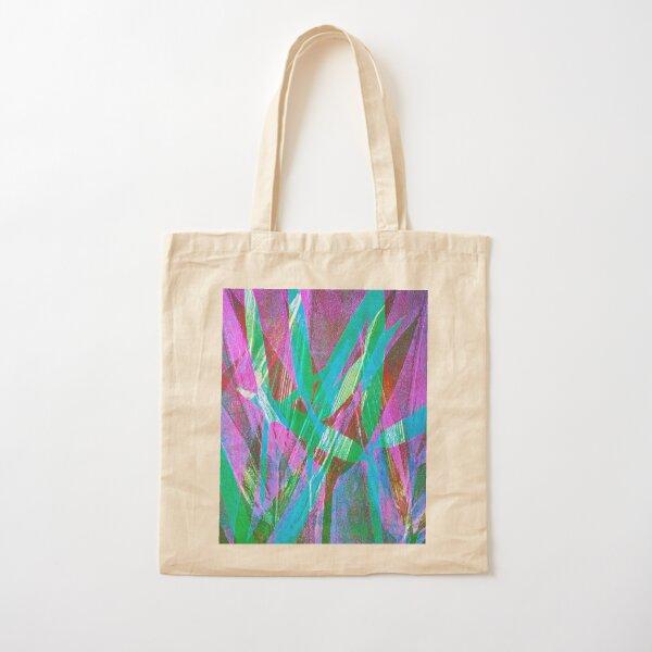 Bamboo:  blues, greens and mauve Cotton Tote Bag