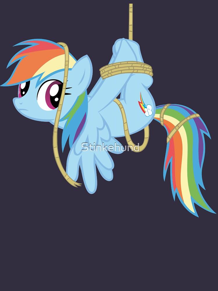 Tied-up pony by Stinkehund