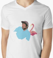 Flamingosis - Bright Moments Men's V-Neck T-Shirt
