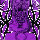 Tribal Dragon Purple by Tim Miklos